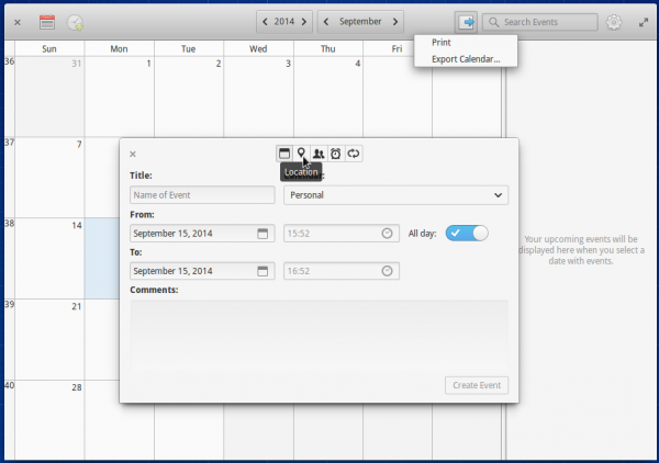elementary OS Calendar