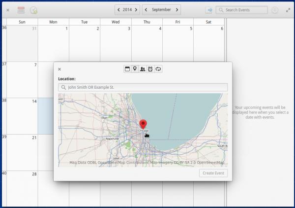 elementary OS Calendar geolocation