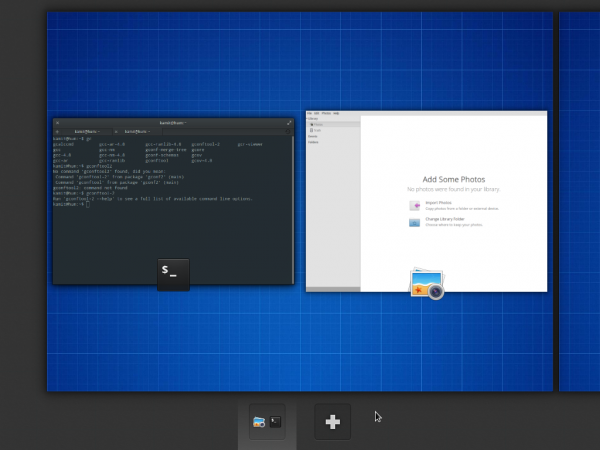 elementary OS virtual desktops