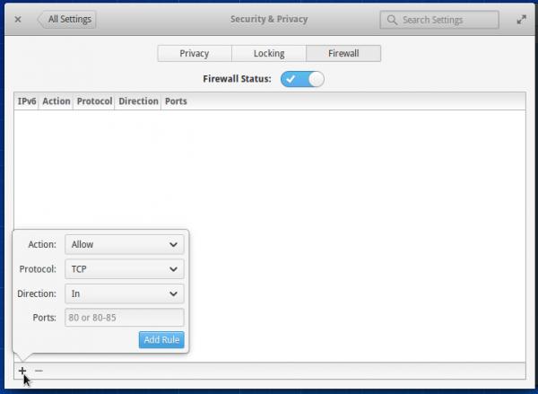 elementary OS firewall