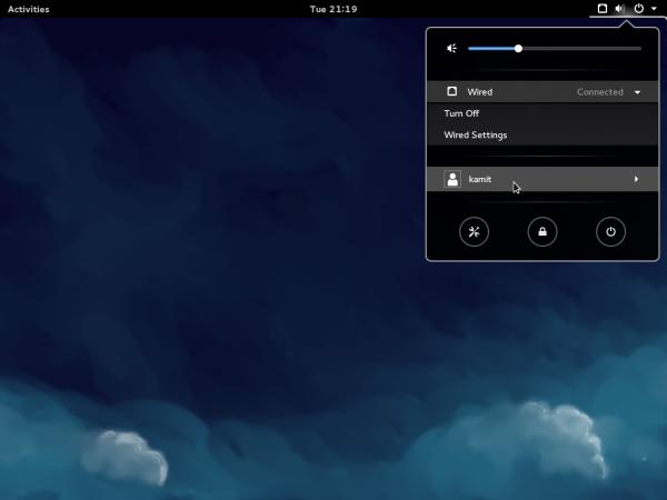 Fedora 21 GNOME 3 desktop