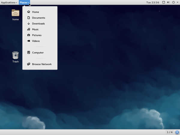 Fedora 21 Workstation GNOME Classical