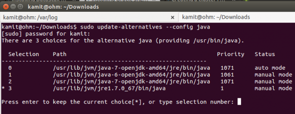 Update-alternatives Java JRE