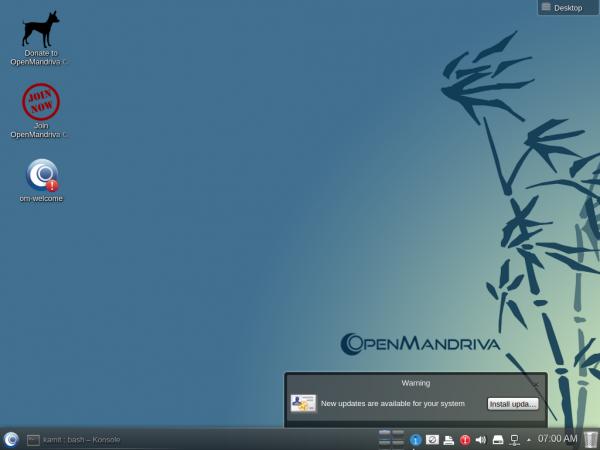 OpenMandriva 2014.1 Desktop
