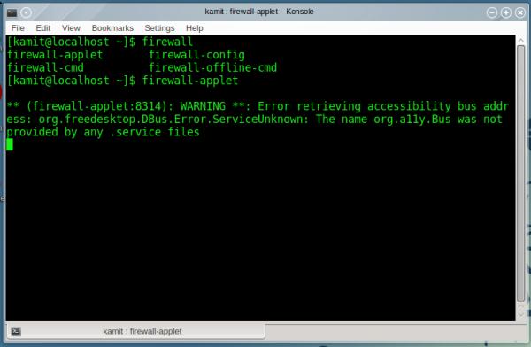 OpenMandriva 2014.1 firewall-applet