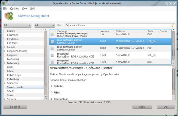 OpenMandriva 2014.1 software