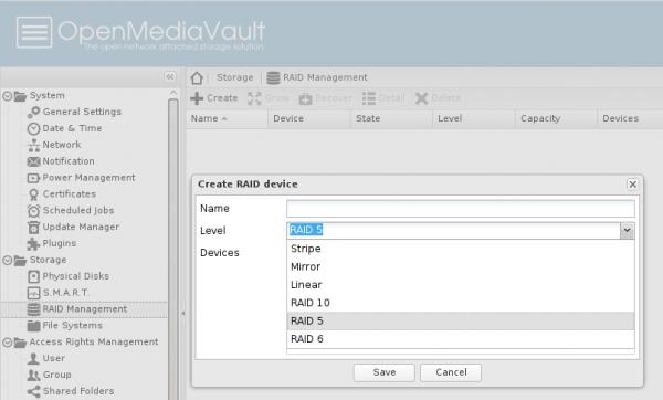 OpenMediaVault RAID
