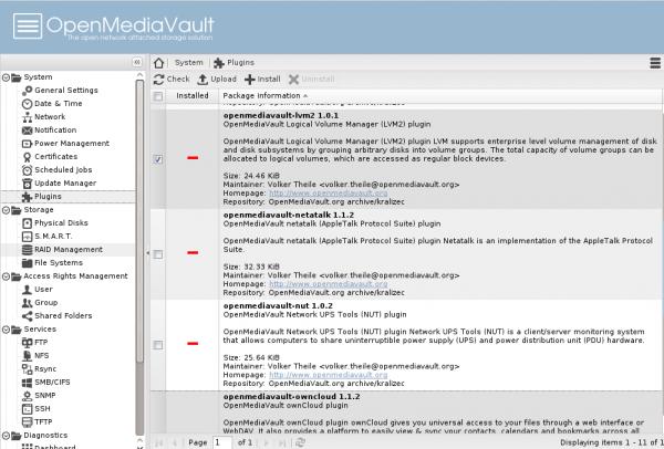OpenMediaVault plugins