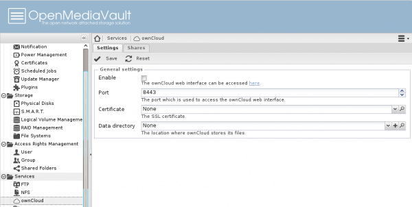 OpenMediaVault ownCloud