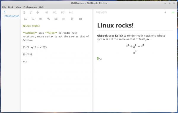 GitBook Markdown editor