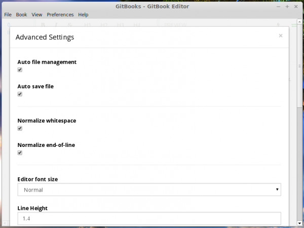 GitBook settings