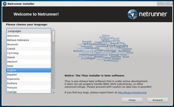 Netrunner Rolling Thus installer