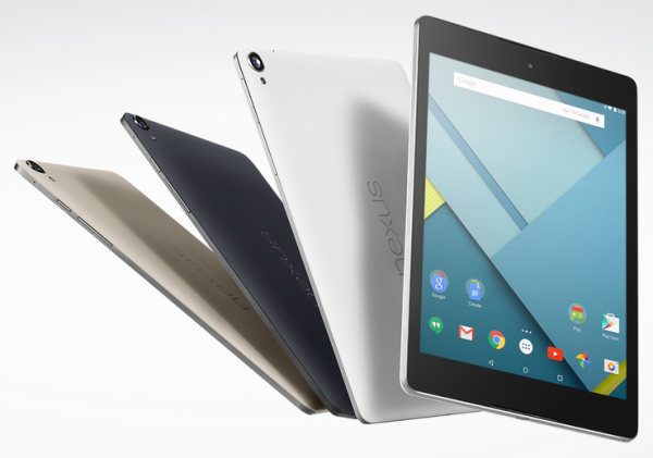 Android 5.0 Lollipop, Nexus 9 tablet and Nexus 6 phablet