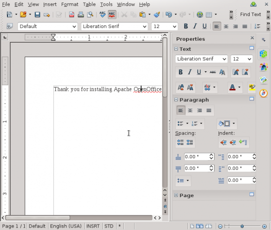 Apache OpenOffice 4.1.1 Writer