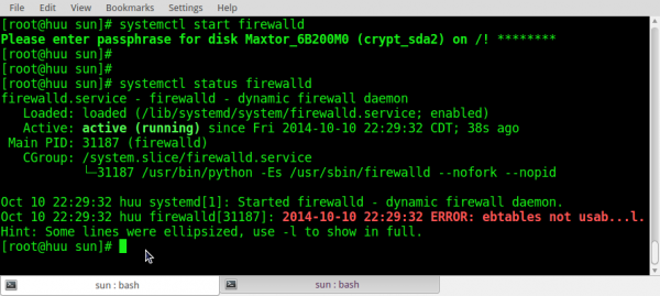 ROSA Desktop Fresh firewalld