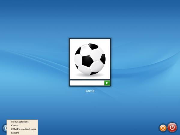 ROSA Desktop Fresh login screen