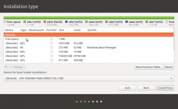 Ubuntu 14.10 Windows 8 partitions