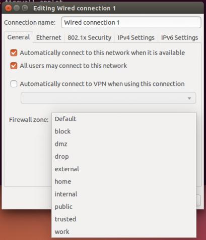 FirewallD IP zones Ubuntu 14.10