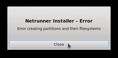 Netrunner Rolling Thus install error