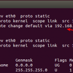 How to change the default route in Linux