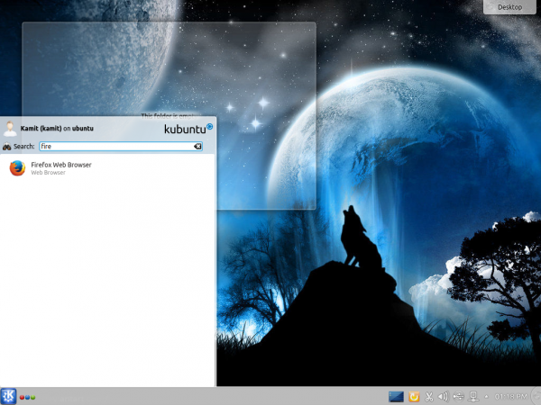 Kubuntu 14.10 menu search