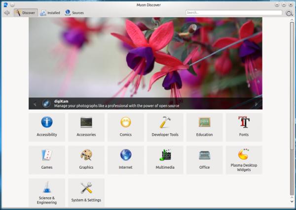 Kubuntu 14.10 Muon Discover
