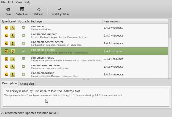 Linux Mint Cinnamon 2.4