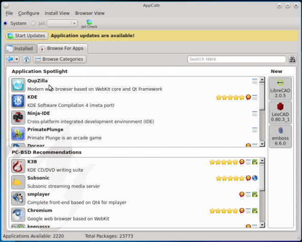 PC-BSD 10.1 AppCafe
