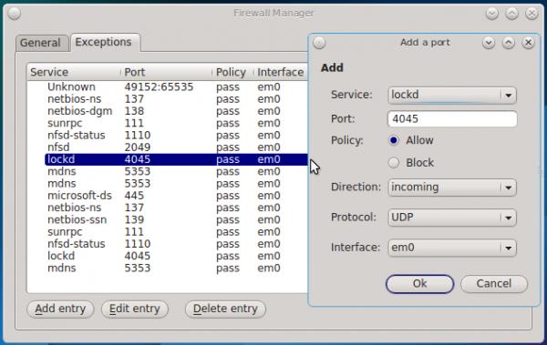PC-BSD 10.1 firewall manager