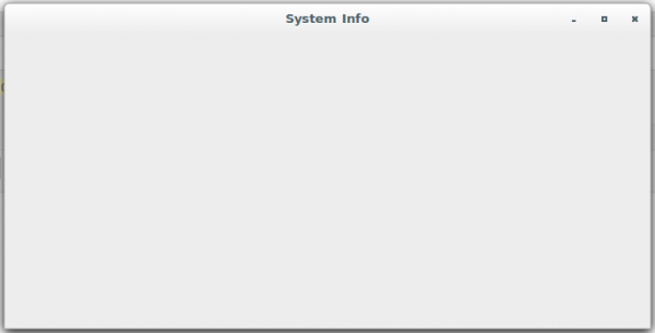 Cinnamon System Info Module