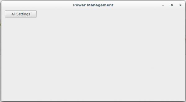Cinnamon Desktop Power Management