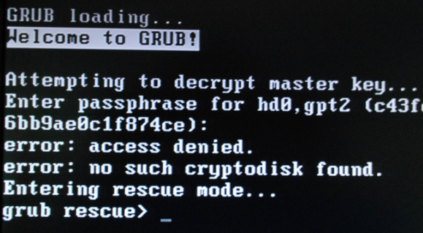PC-BSD GRUB rescue mode