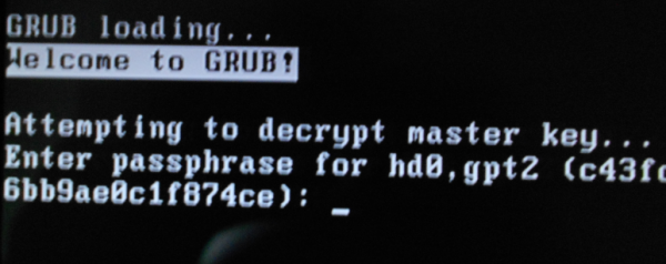 PC-BSD 10 encryption passphrase