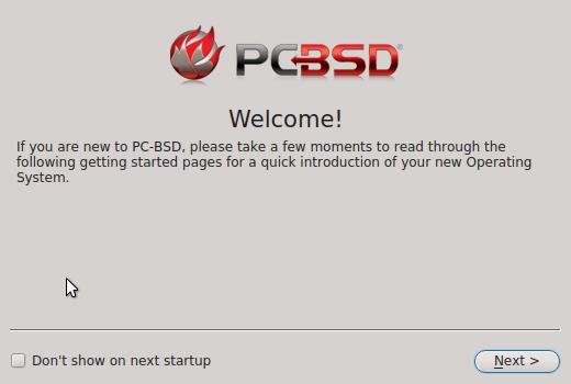 PC_BSD 10.1 welcome