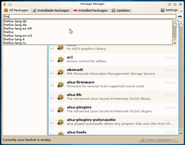 Pisi 1.1 Package Manager