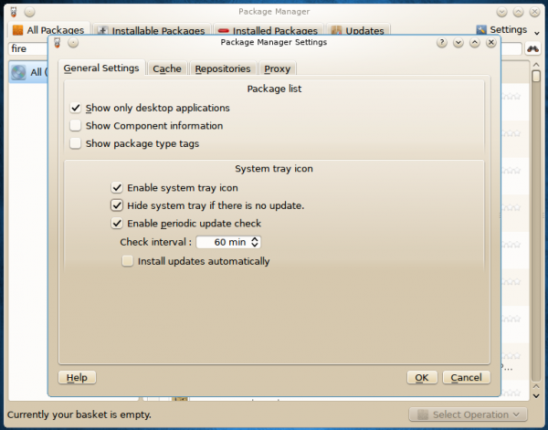 Package Manager Settings