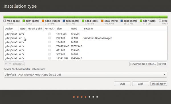 GPT partitions Linux