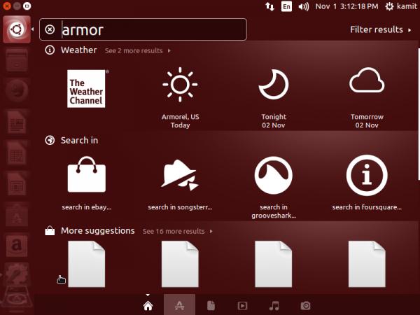 Ubuntu 14.10 Dash