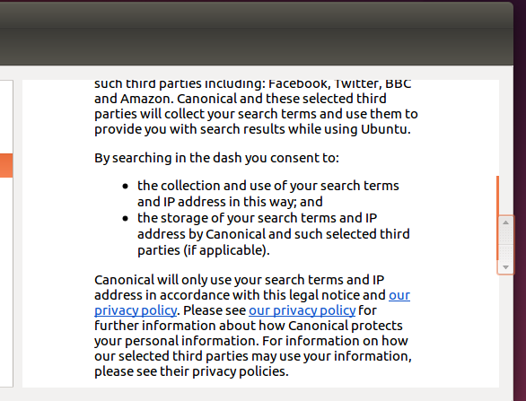Ubuntu 14.10 Scrollbar inside