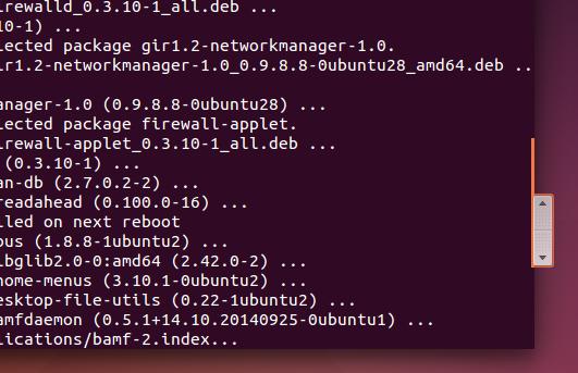 Ubuntu 14.10 Scrollbar