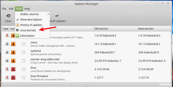 Linux Mint 17.1 Update Manager