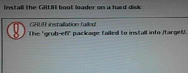 Kali Linux install fail