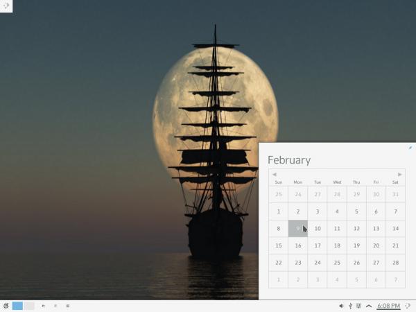 KDE Framework 5 desktop calendar