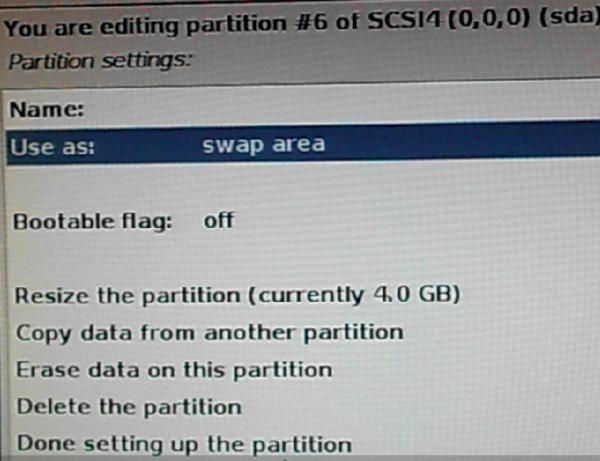 Kali Linux swap