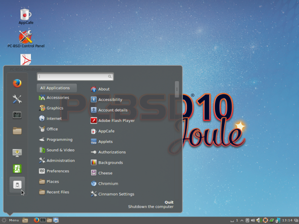 PC-BSD 10.1.1 Cinnamon