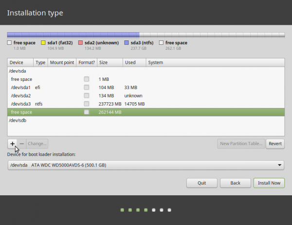 Linux Mint 17.1 windows 7 partitions