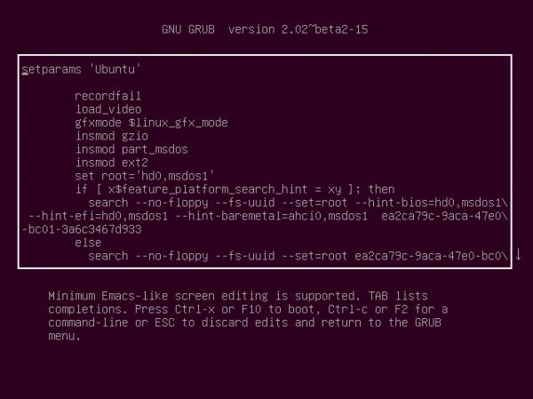 Editable GRUB options Ubuntu 14.10