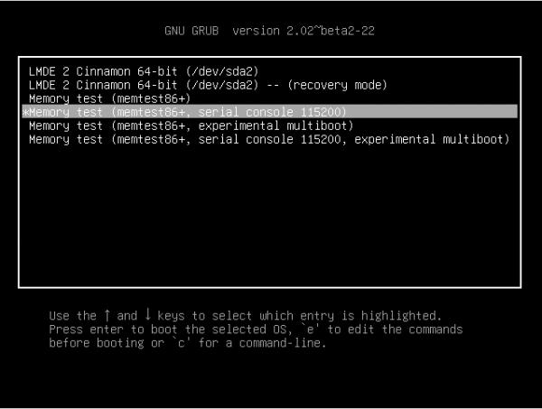 Linux Mint Debian LMDE GRUB