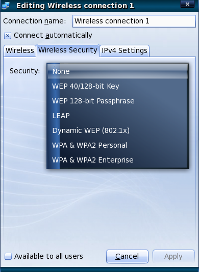 network manager wireless setup