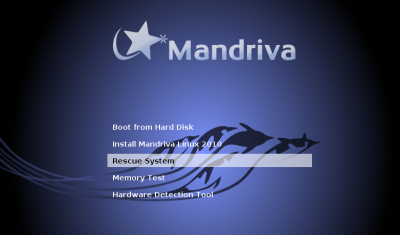 Mandriva Free installation screen